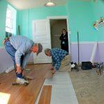 Laminate floor install pic
